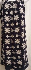 Luxology Navy and White embroidery sundress  XS
